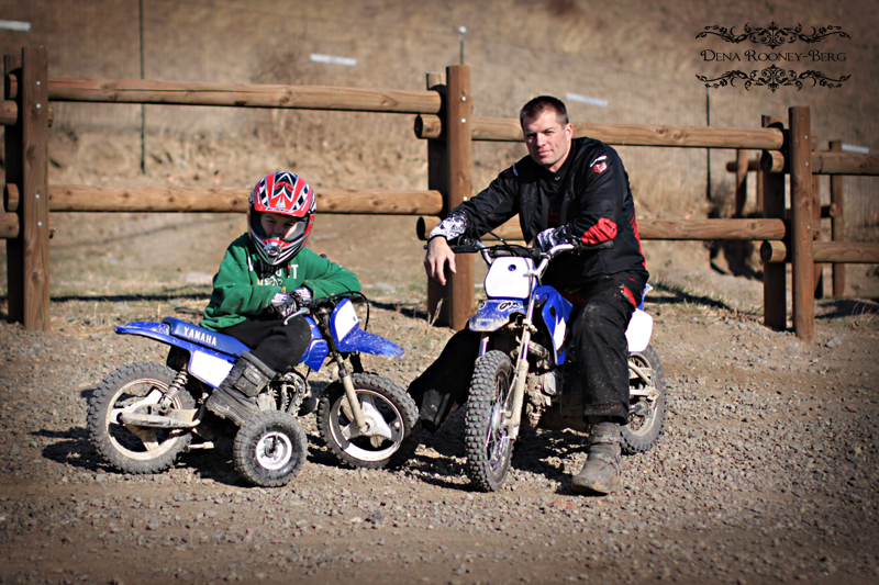 dirt bikes and girls. Kid and myself dirt bikes.